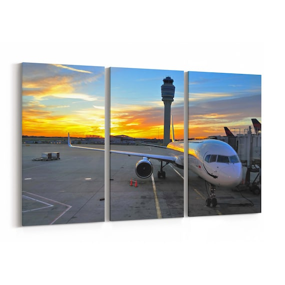 Airplane Canvas Print Airplane Canvas Art Multiple Sizes Wrapped Canvas on Wooden Frame