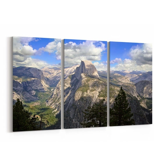 Half Dome Wall Art Canvas Half Dome Canvas Print Multiple Sizes Wrapped Canvas on Wooden Frame