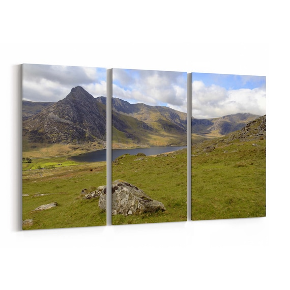 The Triangular Peak of Tryfan Canvas Print The Triangular Peak of Tryfan Wall Art Canvas Multiple Sizes Wrapped Canvas on Wooden Frame
