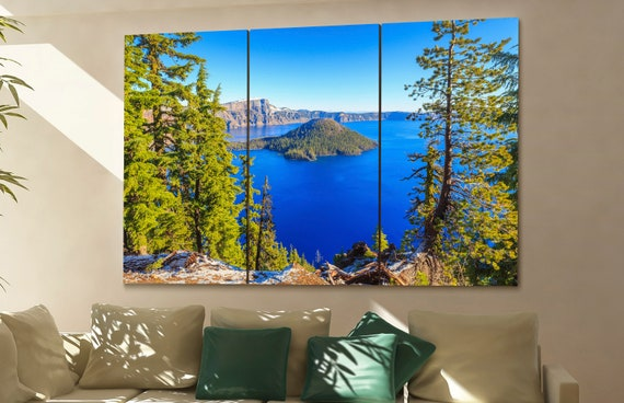Crater Lake wall art Crater Lake canvas Crater Lake canvas wall art Crater Lake decor Crater Lake wall decor Crater Lake art