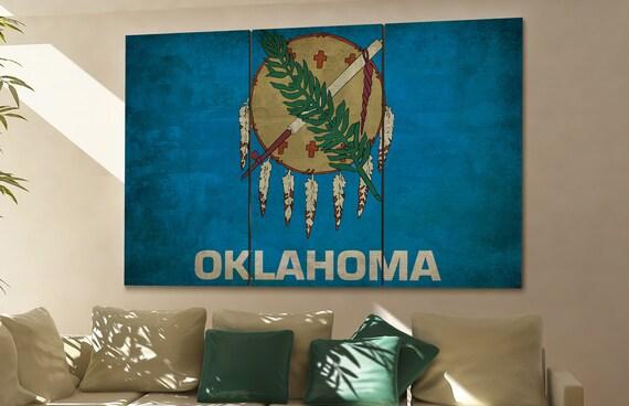 Oklahoma state flag Oklahoma flag state of Oklahoma Oklahoma wall decor Oklahoma wall art Oklahoma gift