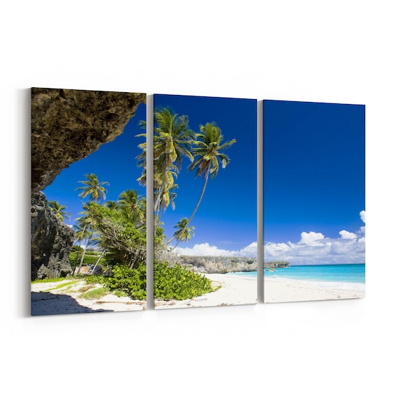 Beach Bay Canvas Print Beach Bay Wall Art Canvas Multiple Sizes Wrapped Canvas on Wooden Frame