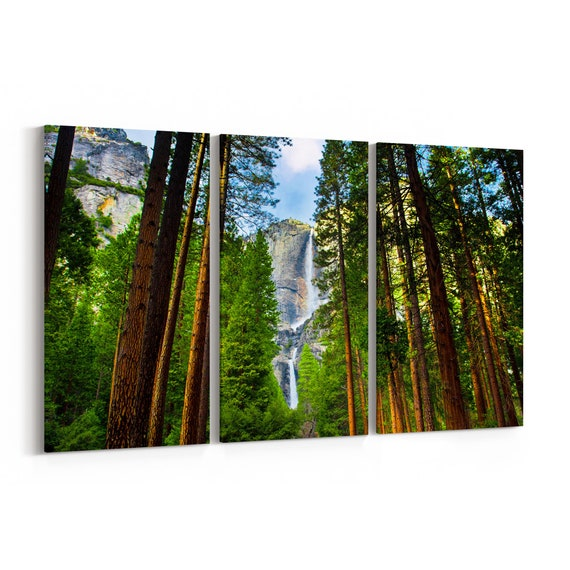 Yosemite National Park Canvas Print Yosemite National Park Wall Art Canvas California Multiple Sizes Wrapped Canvas on Wooden Frame