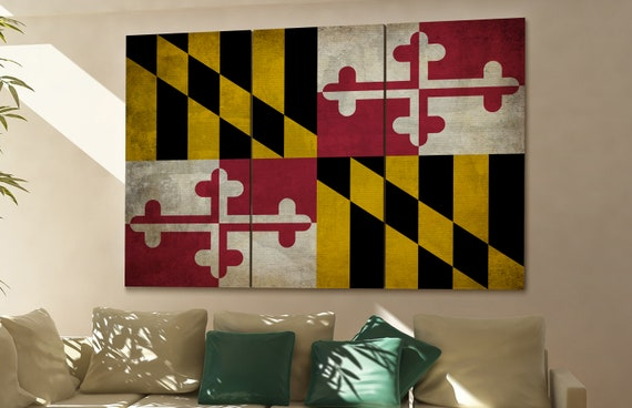 Maryland state flag Maryland flag state of Maryland Maryland wall decor Maryland wall art Maryland gift