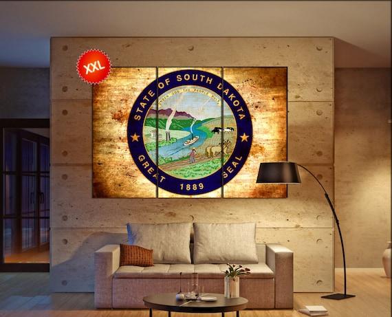 South dakota seal  canvas South dakota seal wall decoration South dakota seal canvas art South dakota seal large canvas