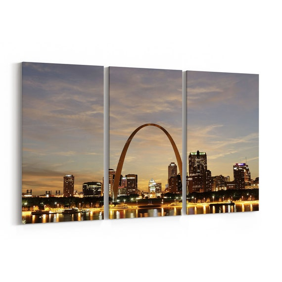 St. Louis Canvas Print St. Louis Wall Art Canvas Multiple Sizes Wrapped Canvas on Wooden Frame