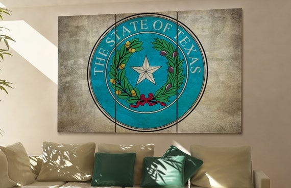Texas seal flag  canvas wall art Texas seal flag wall decoration Texas seal flag canvas wall art art Texas seal flag large canvas wall art