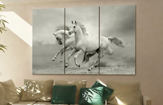 horses wall art horses canvas horses canvas wall art horses | Etsy