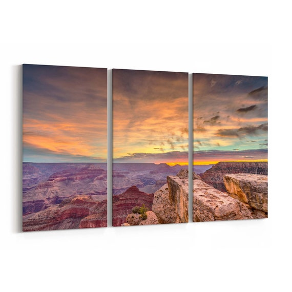 Grand Canyon Skyline Wall Art Grand Canyon Canvas Print Arizona Multiple Sizes Wrapped Canvas on Wooden Frame