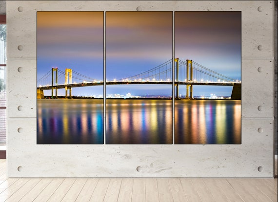 Delaware Memorial Bridge  wall art Delaware Memorial Bridge  art Delaware Memorial Bridge  print Delaware Memorial Bridge  canvas