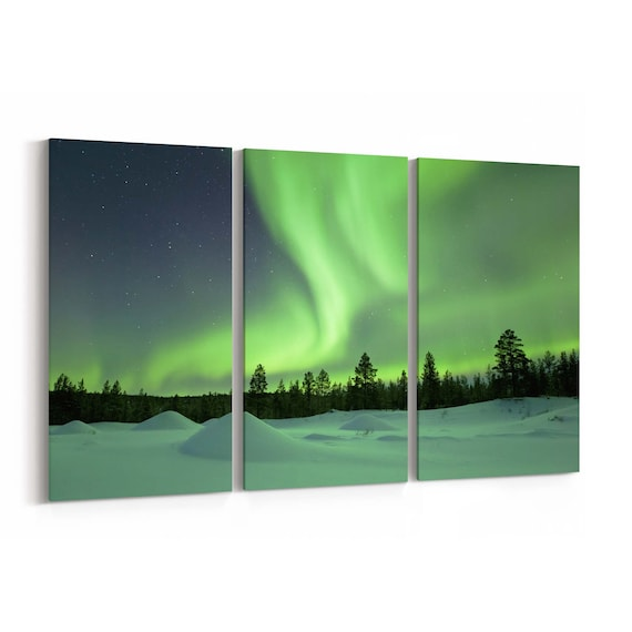 Northern Light Canvas Art Northern Light Canvas Print Multiple Sizes Wrapped Canvas on Wooden Frame