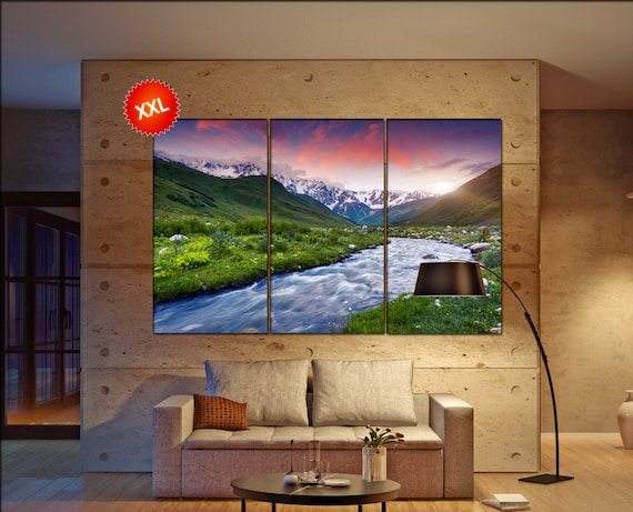 River lake  canvas wall art River lake wall decoration River lake canvas wall art art River lake large canvas wall art  wall decor