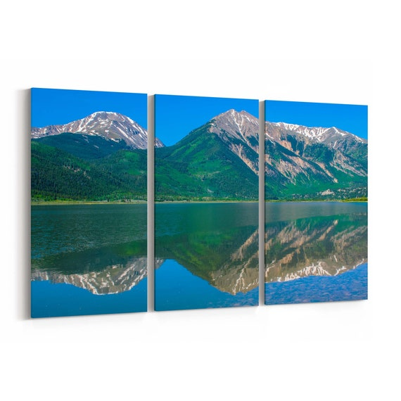 Twin Peaks Canvas Print Twin Peaks Wall Art Canvas Colorado Multiple Sizes Wrapped Canvas on Wooden Frame