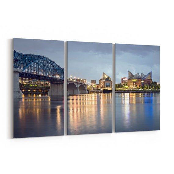 Chattanooga Canvas Print Chattanooga Wall Art Canvas Tennessee Multiple Sizes Wrapped Canvas on Wooden Frame