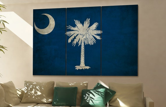 South Carolina state flag South Carolina flag state of South Carolina South Carolina wall decor South Carolina wall art South Carolina gift