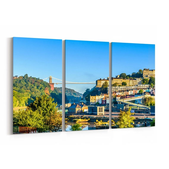 Bristol Skyline Wall Art Bristol Canvas Print Multiple Sizes Wrapped Canvas on Wooden Frame