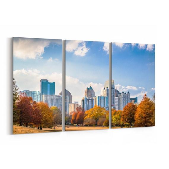 Piedmont Park Skyline Wall Art Piedmont Park Canvas Print Atlanta Multiple Sizes Wrapped Canvas on Wooden Frame