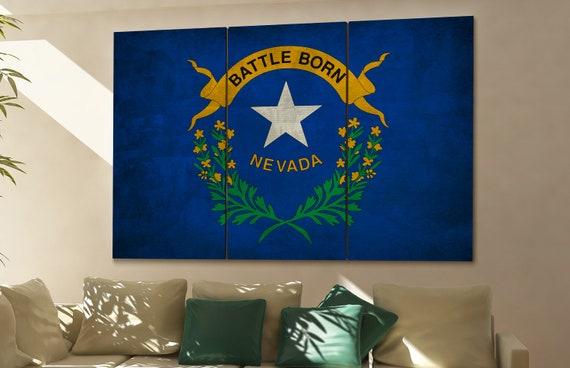 Nevada state flag Nevada flag state of Nevada Nevada wall decor Nevada wall art Nevada gift