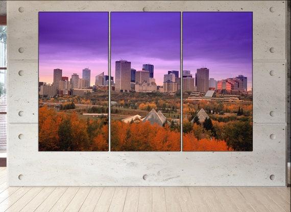 Edmonton canvas wall art Edmonton wall decoration Edmonton | Etsy
