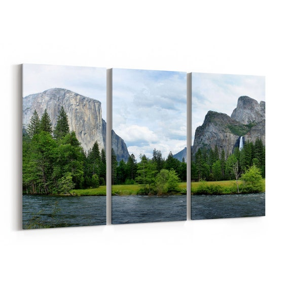 Yosemite National Park Canvas Print Yosemite National Park Wall Art Canvas Multiple Sizes Wrapped Canvas on Wooden Frame