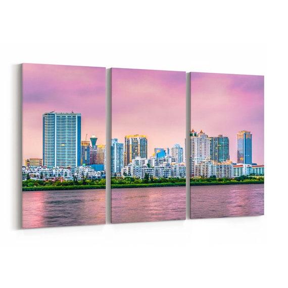Xiamen Skyline Wall Art Xiamen Canvas Print China Multiple Sizes Wrapped Canvas on Wooden Frame