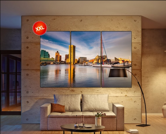Baltimore skyline Baltimore wall art Baltimore city Baltimore art Baltimore cityscape Baltimore downtown Baltimore canvas