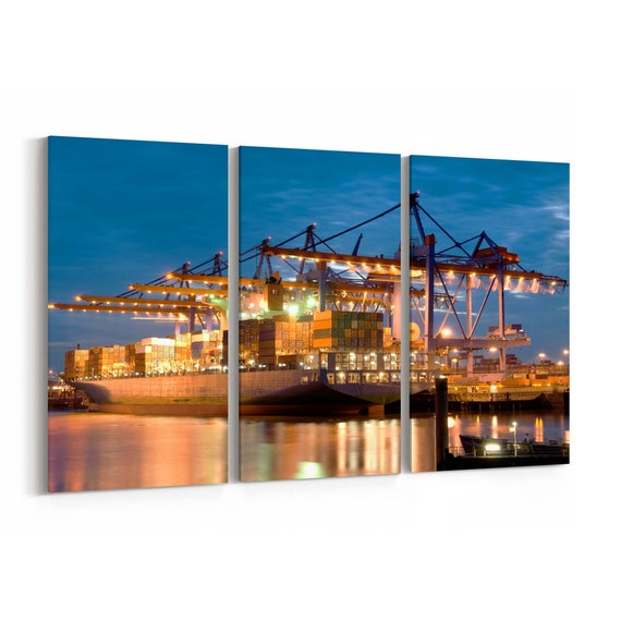 Ship Canvas Print Ship Wall Art Canvas Multiple Sizes Wrapped Canvas on Wooden Frame