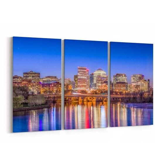 Rosslyn Skyline Wall Art Rosslyn Canvas Print Arlington Multiple Sizes Wrapped Canvas on Wooden Frame