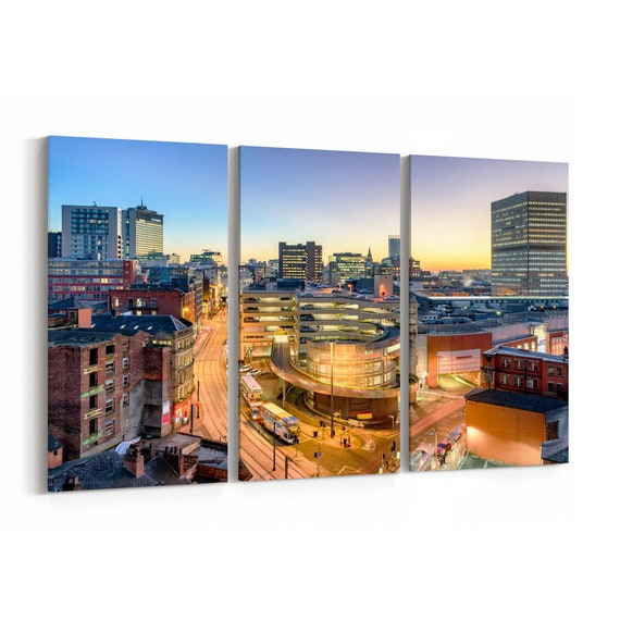 Manchester Canvas Art Manchester Wall Art Canvas Multiple Sizes Wrapped Canvas on Wooden Frame
