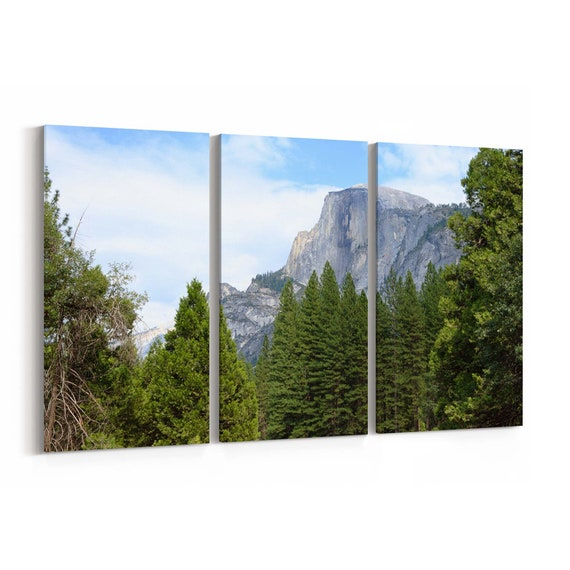Half Dome Canvas Print Half Dome Wall Art Canvas Multiple Sizes Wrapped Canvas on Wooden Frame