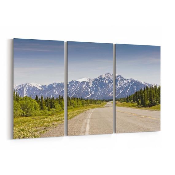 Saint Elias Mountain Canvas Print Saint Elias Mountain Wall Art Canvas Multiple Sizes Wrapped Canvas on Wooden Frame