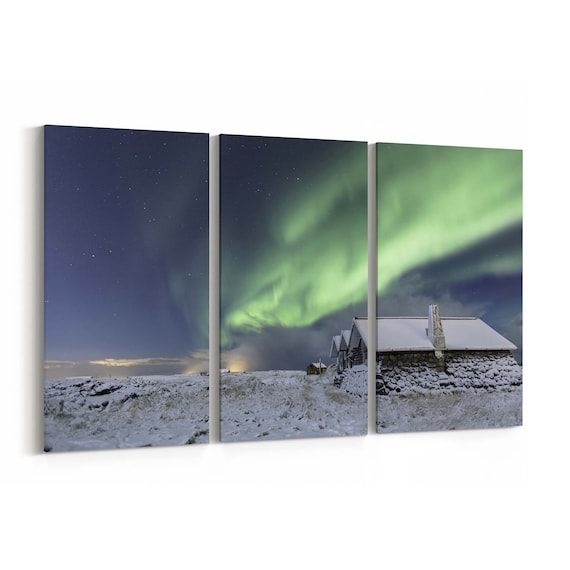 Northern Lights Canvas Art Northern Lights Canvas Print Multiple Sizes Wrapped Canvas on Wooden Frame