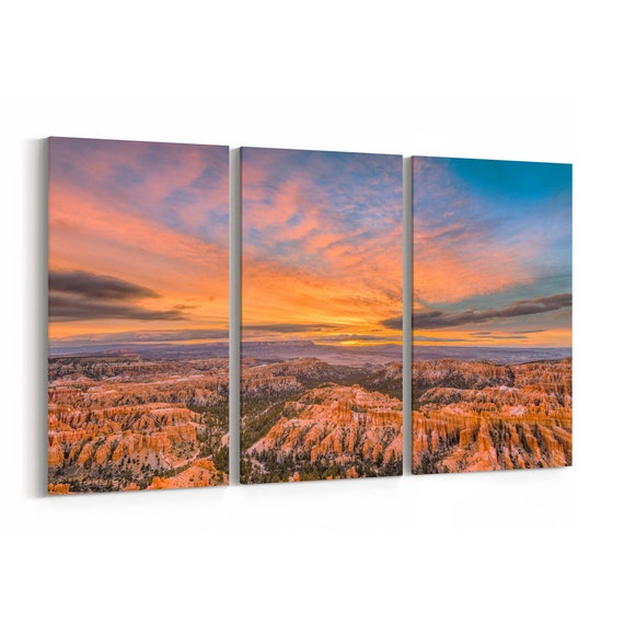Bryce Canyon Skyline Wall Art Bryce Canyon Canvas Print Multiple Sizes Wrapped Canvas on Wooden Frame