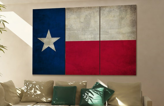Texas state flag Texas flag state of Texas Texas wall decor Texas wall art Texas gift