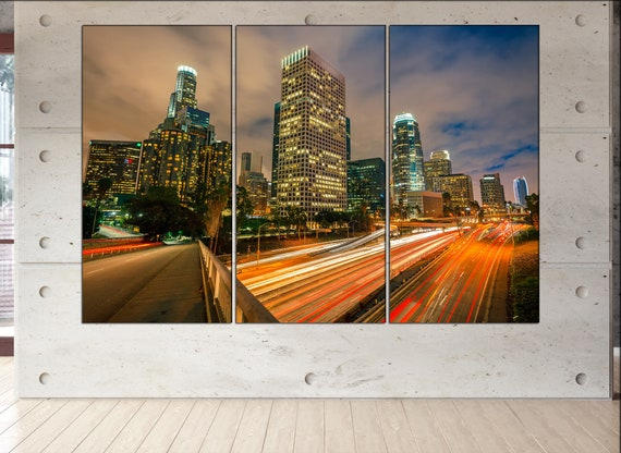 Los Angeles  canvas skyline Los Angeles  wall decoration Los Angeles canvas art Los Angeles  wall decor canvas art