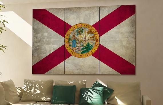 Florida state flag Florida flag state of Florida Florida wall decor Florida wall art Florida gift