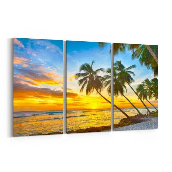 Caribbean Island Canvas Print Caribbean Island Wall Art Canvas Multiple Sizes Wrapped Canvas on Wooden Frame