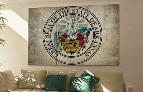 arkansas seal flag  canvas arkansas seal flag wall decoration arkansas seal flag canvas art arkansas seal flag large canvas