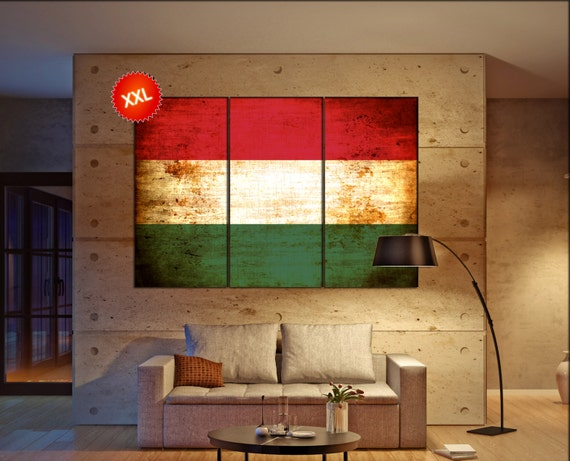 Hungary flag canvas wall art art print large  canvas wall art print Hungary country flag Wall Home office decor interior Office Decor
