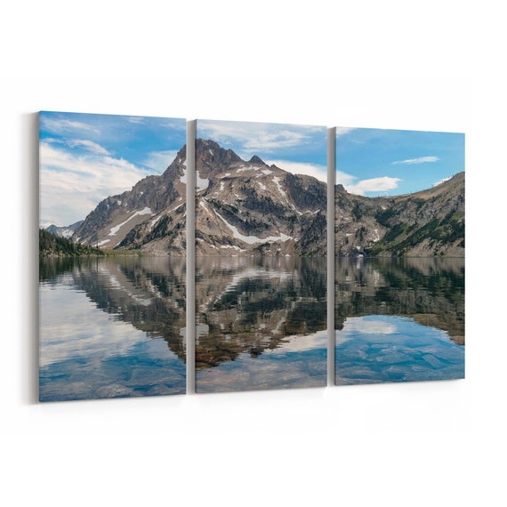 Sawtooth Lake Canvas Print Sawtooth Lake Wall Art Canvas Idaho Multiple Sizes Wrapped Canvas on Wooden Frame