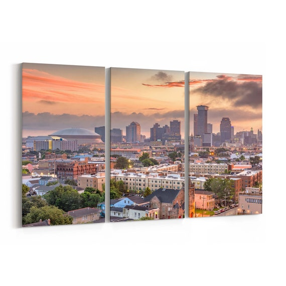 New Orleans Canvas Print New Orleans Wall Art Canvas Louisiana Multiple Sizes Wrapped Canvas on Wooden Frame