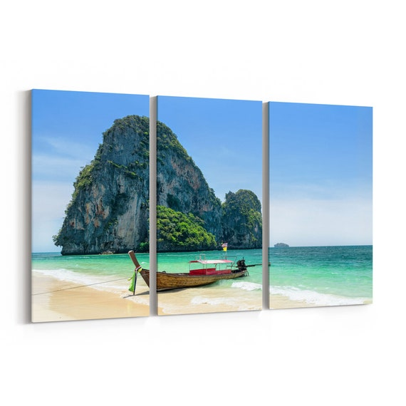 Beach Canvas Print Beach Canvas Art Thailand Multiple Sizes Wrapped Canvas on Wooden Frame