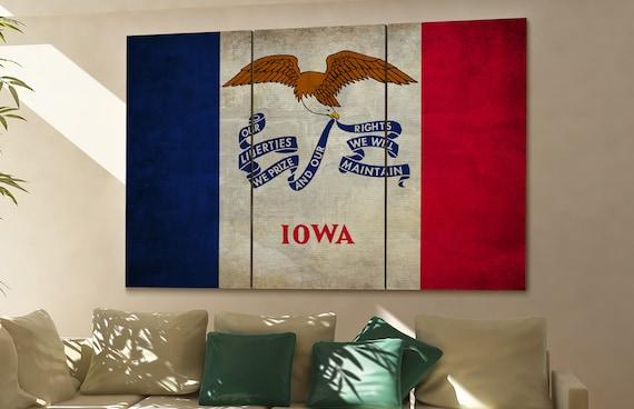 Iowa state flag Iowa flag state of Iowa Iowa wall decor Iowa wall art Iowa gift