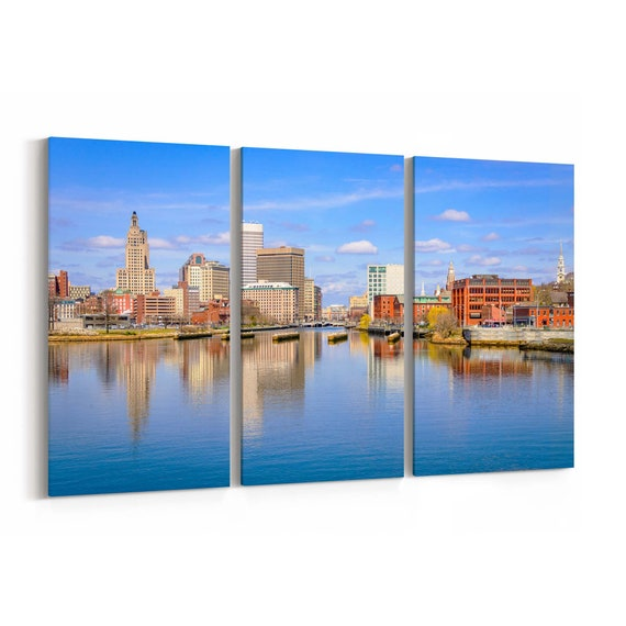Providence Canvas Print Providence Wall Art Canvas Rhode Island Multiple Sizes Wrapped Canvas on Wooden Frame
