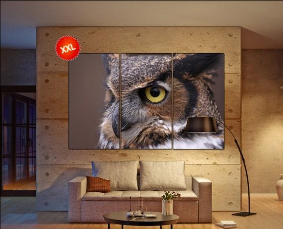 Owl  canvas wall art Owl wall decoration Owl canvas wall art art Owl large canvas wall art  wall decor