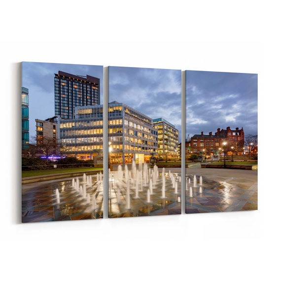 Sheffield Canvas Print Sheffield Wall Art Canvas Multiple Sizes Wrapped Canvas on Wooden Frame