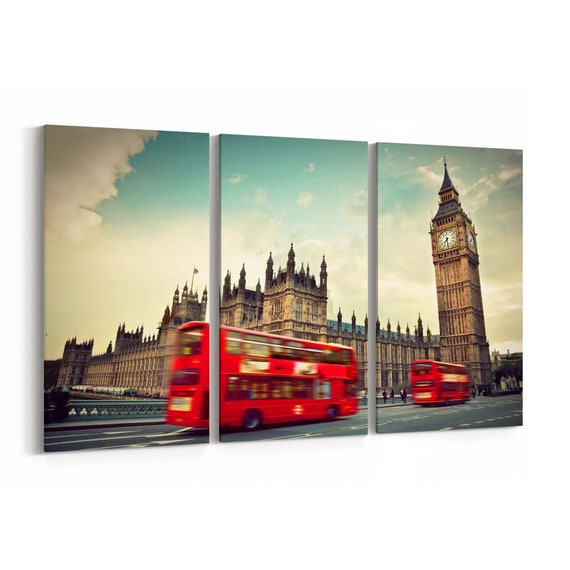 Big Ben Skyline Wall Art Canvas Big Ben Canvas Print Multiple Sizes Wrapped Canvas on Wooden Frame