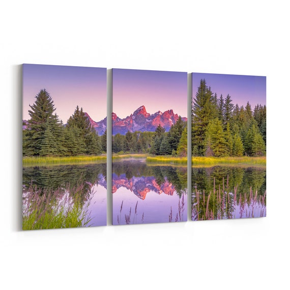 Grand Teton National Park Canvas Print Grand Teton National Park Wall Art Canvas Multiple Sizes Wrapped Canvas on Wooden Frame