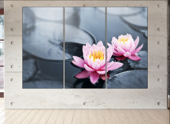 lotus blossoms  canvas lotus blossoms wall decoration lotus blossoms canvas art lotus blossoms large canvas  wall decor