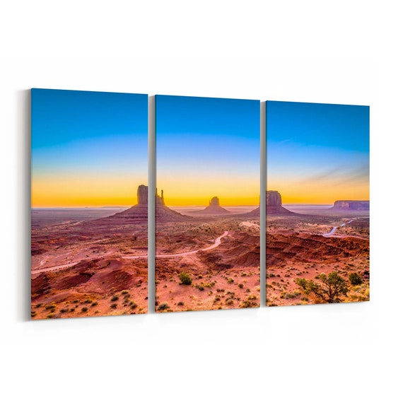 Monument Valley Canvas Print Monument Valley Wall Art Canvas Arizona Multiple Sizes Wrapped Canvas on Wooden Frame